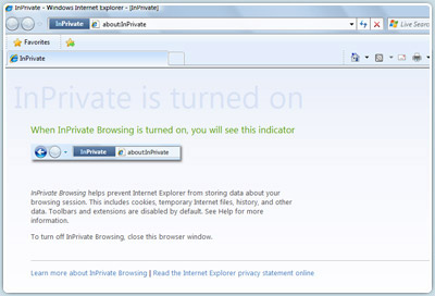 Screenshot Private Browsing