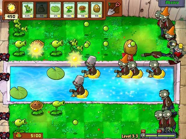 Plants vs Zombies dans la piscine