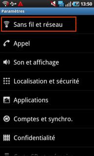 Désactiver l'échange de data mobile et internet à l'étranger sur Android 2