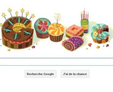 Google vous souhaite un joyeux anniversaire !