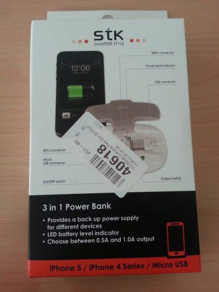 Test de la batterie externe STK 3-in-1 de 4000 mAh