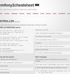 Symfony 2 cheat sheet