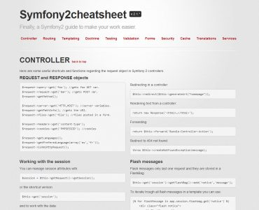 Symfony 2 cheat sheet