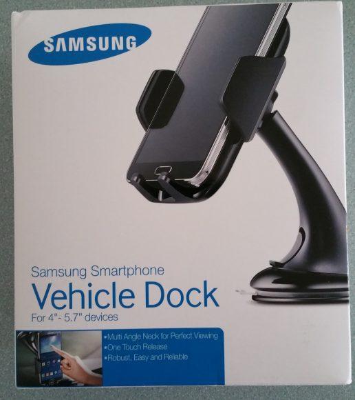 L'emballage du support voiture officiel Samsung universel pare-brise
