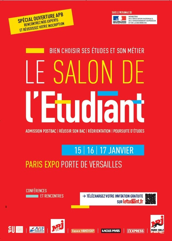 Invitations gratuites pour le salon de l 39 tudiant de paris - Salon de l agriculture invitation gratuite ...