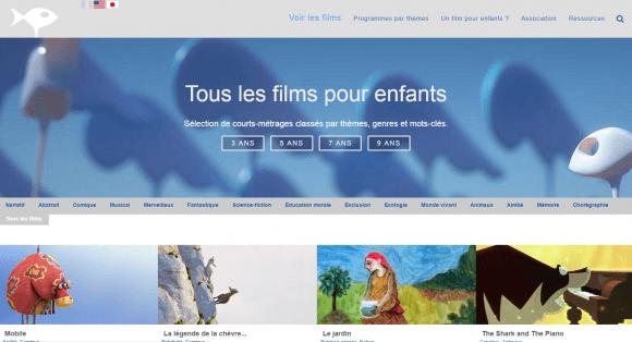 Page d'accueil de films pour enfants