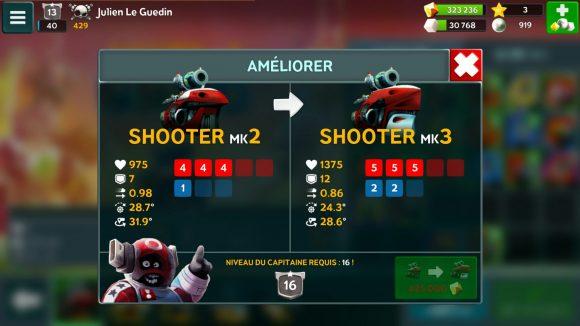 Battle Bay - Amélioration du Shooter à la classe supérieure
