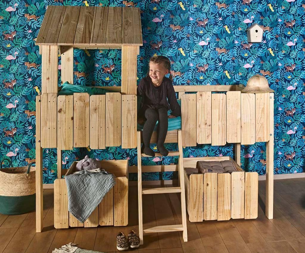 aménagement chambre lit cabane
